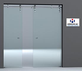 Herrajes mi sistema doorpro corredizo for Manijas para mamparas de vidrio